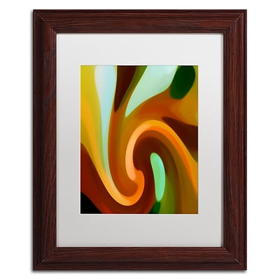 Trademark Fine Art Amy Vangsgard Wind In Tree Vertical 2 11 x 14 Matted Framed (886511939158)