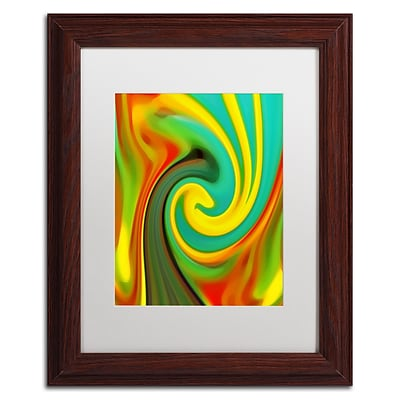 Trademark Fine Art Amy Vangsgard Abstract Flower Unfurling Vertical 1 11 x 14 Matted Framed (886511933750)