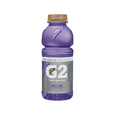 Gatorade G2 Thirst Quencher Grape Liquid Sports Drink, 20 Fl. oz., 24/Carton (20406)