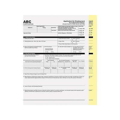 PM Company Carbonless Paper, 20 lbs, 8.5 x 11, White/Canary, 1250/Carton (59104)