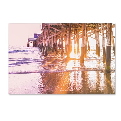 Trademark Fine Art Ariane Moshayedi Newport Pier Sunset 2 12 x 19 Canvas Stretched (190836271009)