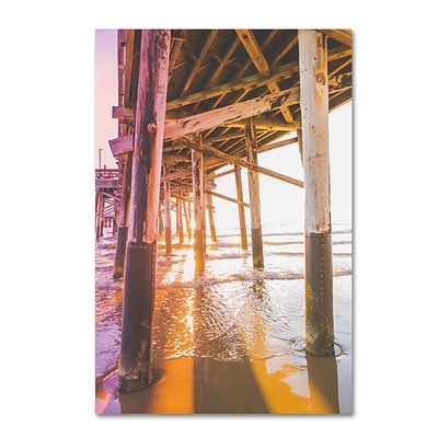 Trademark Fine Art Ariane Moshayedi Newport Pier 3 12 x 19 Canvas Stretched (190836270729)