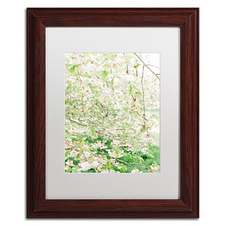 Trademark Fine Art Ariane Moshayedi White Cherry Blossom Trees 4 11 x 14 Matted Framed (19083627