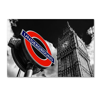 Trademark Fine Art Philippe Hugonnard Underground London 12 x 19 Canvas Stretched (190836053032)