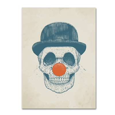 Trademark Fine Art Balazs Solti Dead Clown 14 x 19 Canvas Stretched (190836177325)