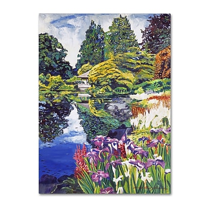 Trademark Fine Art David Lloyd Glover Tea House Lake 14 x 19 Canvas Stretched (190836187706)