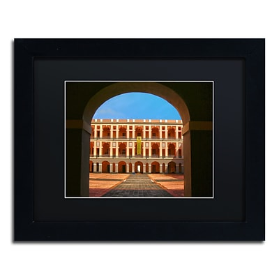 Trademark Fine Art CATeyes Ballaja Barracks 11 x 14 Matted Framed (190836033331)