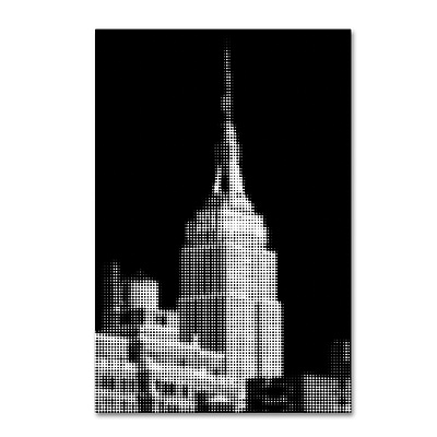 Trademark Fine Art Philippe Hugonnard Pixels Print Empire State 12 x 19 Canvas Stretched (886511951754)