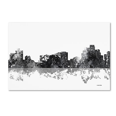 Trademark Fine Art Marlene Watson Reno Nevada Skyline BG-1 12 x 19 Canvas Stretched (190836197583)
