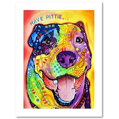 Trademark Fine Art Dean Russo Have Pittie 18 x 24 Paper Rolled (190836162024)