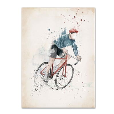 Trademark Fine Art Balazs Solti I Want To Ride My Bicycle 14 x 19 Canvas Stretched (190836181285)