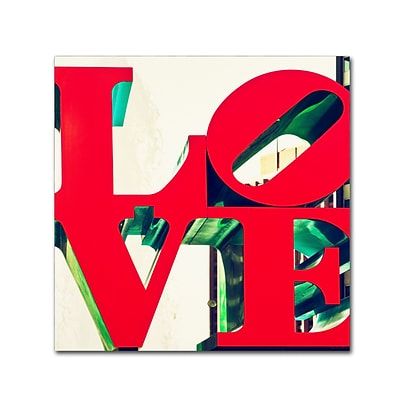 Trademark Fine Art Philippe Hugonnard LOVE 14 x 14 Canvas Stretched (190836053391)