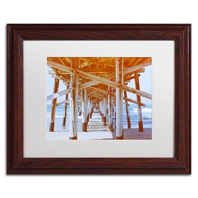 Trademark Fine Art Ariane Moshayedi Under Pier 11 x 14 Matted Framed (190836262144)