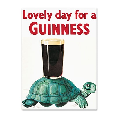 Trademark Fine Art Guinness Brewery Lovely Day For A Guinness X 14 x 19 Wall Art (190836244751)