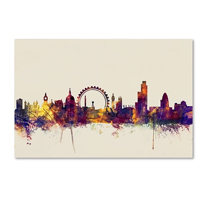 Trademark Fine Art Michael Tompsett London England Skyline 12 x 19 Canvas Stretched (190836024872)