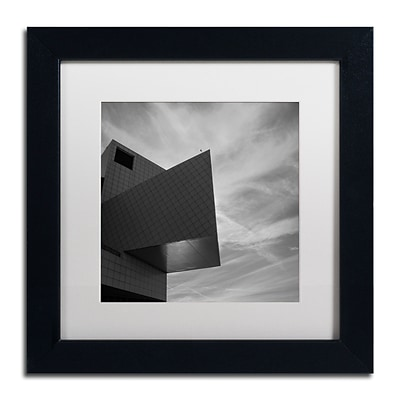 Trademark Fine Art Kurt Shaffer Rock and Roll Hall of Fame Abstract 11 x 11 Matted Framed (886511965676)