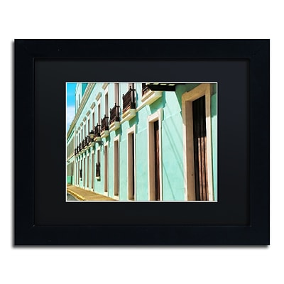 Trademark Fine Art CATeyes Old San Juan 2 11 x 14 Matted Framed (190836038190)