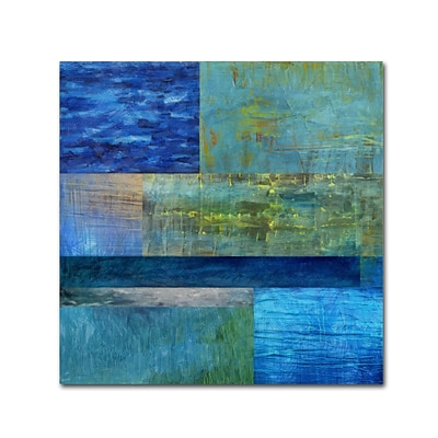 Trademark Fine Art Michelle Calkins Essence of Blue 18 x 18 Canvas Stretched (190836071197)