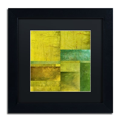Trademark Fine Art Michelle Calkins Essence of Green 11 x 11 Matted Framed (190836071302)