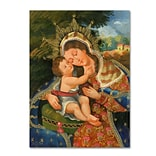 Trademark Fine Art Sergio Cruze The Virgin and Son III 14 x 19 Canvas Stretched (190836012848)