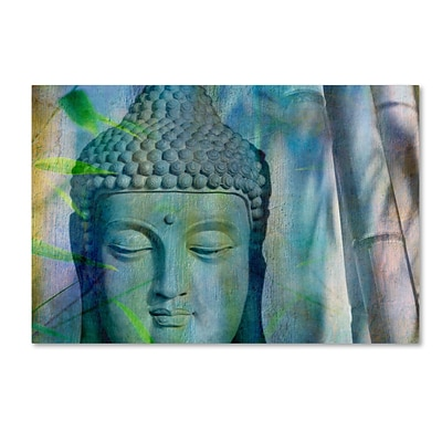 Trademark Fine Art Cora Niele Buddha with Bamboo 12 x 19 Canvas Stretched (190836252046)