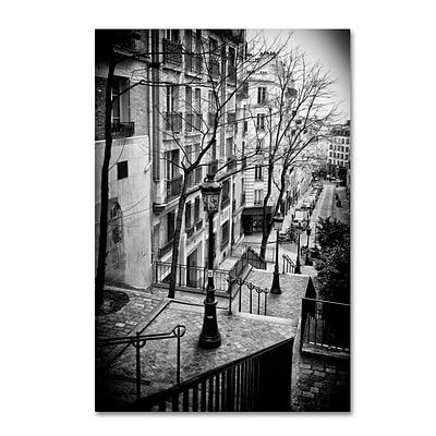 Trademark Fine Art Philippe Hugonnard Parisian Lamppost 12 x 19 Canvas Stretched (190836053933)