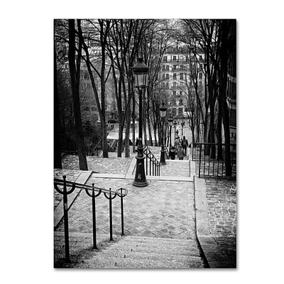 Trademark Fine Art Philippe Hugonnard Staircase Montmartre Paris 14 x 19 Canvas Stretched (190836046553)