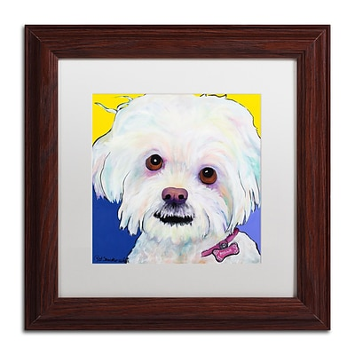 Trademark Fine Art Pat Saunders-White Lucy 11 x 11 Matted Framed (190836060931)