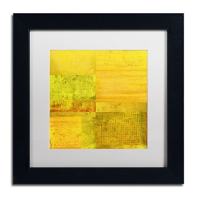 Trademark Fine Art Michelle Calkins Essence of Yellow 11 x 11 Matted Framed (190836071630)