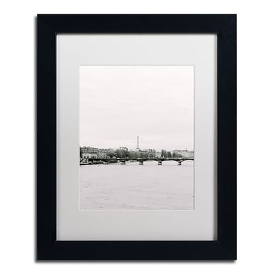 Trademark Fine Art Ariane Moshayedi Eiffel Tower on Seine 11 x 14 Matted Framed (190836267903)