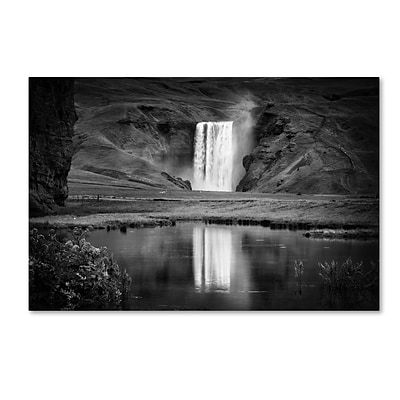 Trademark Fine Art Philippe Sainte-Laudy Double Skogafoss 12 x 19 Canvas Stretched (190836293728)