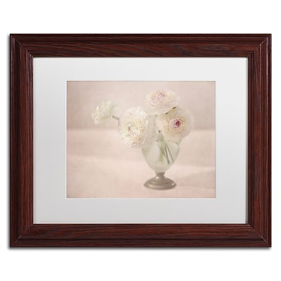 Trademark Fine Art Cora Niele White Persian Buttercups Posy 11 x 14 Matted Framed (190836261444)