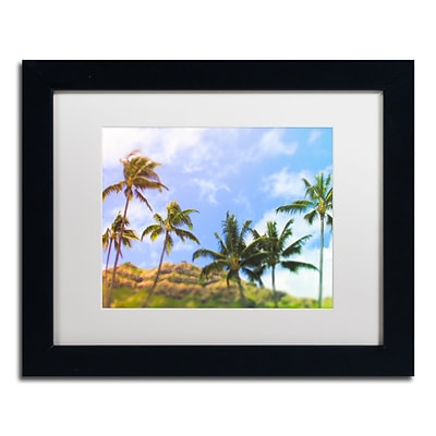 Trademark Fine Art Ariane Moshayedi Hawaiian Palms 11 x 14 Matted Framed (190836268603)