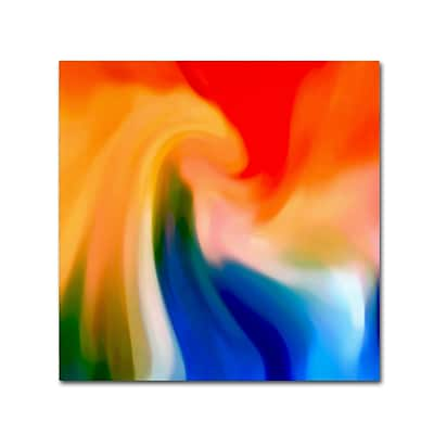 Trademark Fine Art Amy Vangsgard Storm At Sea Square 1 18 x 18 Canvas Stretched (886511938144)