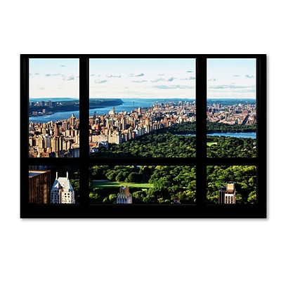 Trademark Fine Art Philippe Hugonnard Central Park Window View 12 x 19 Canvas Stretched (190836048892)