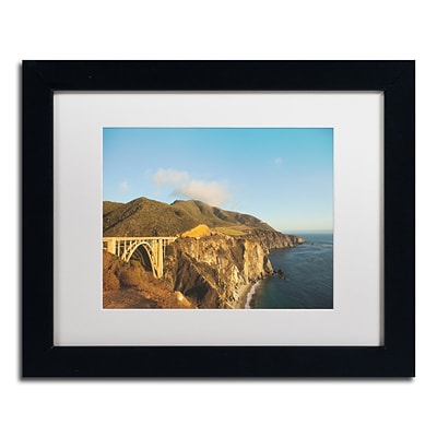 Trademark Fine Art Ariane Moshayedi Bixby Bridge 11 x 14 Matted Framed (190836264681)