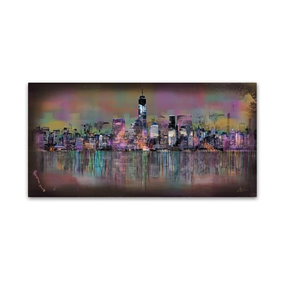 Trademark Fine Art Ellicia Amando Cityscape 12 x 24 Canvas Stretched (190836278558)