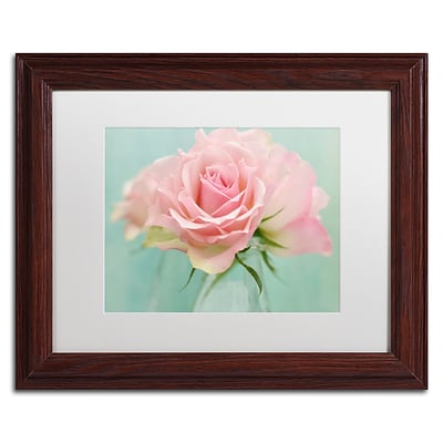 Trademark Fine Art Cora Niele Pink Roses 11 x 14 Matted Framed (190836260324)