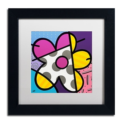 Trademark Fine Art Roberto Rafael Big Flower II 11 x 11 Matted Framed (190836279739)
