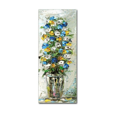 Trademark Fine Art Hai Odelia Spring Flowers in a Vase 2 8 x 19 Canvas Stretched (190836067398)
