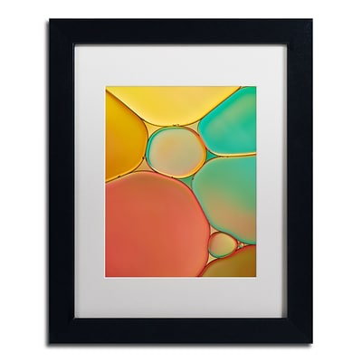 Trademark Fine Art Cora Niele Red Yellow and Green Drops 11 x 14 Matted Framed (190836254262)