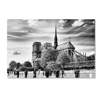 Trademark Fine Art Philippe Hugonnard Notre Dame Cathedral Paris 12 x 19 Canvas Stretched (190836113149)