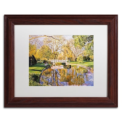 Trademark Fine Art David Lloyd Glover Reflections of the White Bridge 11 x 14 Matted Framed (190836187942)