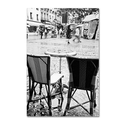 Trademark Fine Art Yale Gurney Paris Cafe for 2 12 x 19 Canvas Stretched (190836241958)