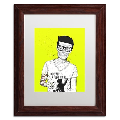 Trademark Fine Art Balazs Solti Hipsters Not Dead Color 11 x 14 Matted Framed (190836181216)