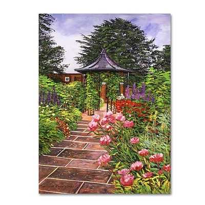 Trademark Fine Art David Lloyd Glover Carrington Garden 14 x 19 Canvas Stretched (190836188260)