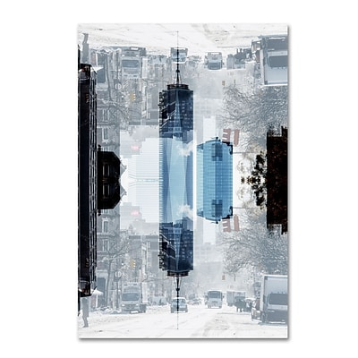 Trademark Fine Art Philippe Hugonnard New York Reflection V 12 x 19 Canvas Stretched (886511967281)