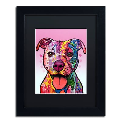 Trademark Fine Art Dean Russo Cherish The Pitbull 11 x 14 Matted Framed (190836146437)