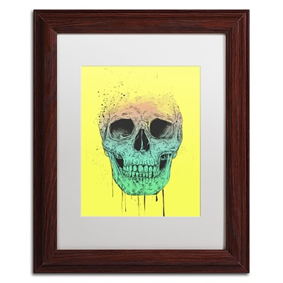 Trademark Fine Art Balazs Solti Pop Art Skull 11 x 14 Matted Framed (190836178186)