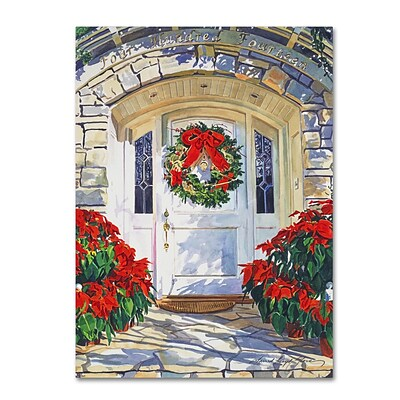 Trademark Fine Art David Lloyd Glover Poinsettia House 14 x 19 Canvas Stretched (190836228409)